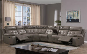 2017 New Luxury Big Sized Comfortable Sectional Recliner Sofa Couch with Storage Beige pictures & photos