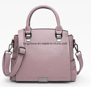 2017 Newly Designer PU Handbag with Stitching Decoration on Front (KCHA029) pictures & photos