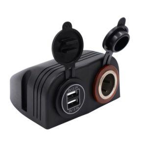 Dual 4.2A USB Charger 12V/24V Cigarette Lighter Socket pictures & photos