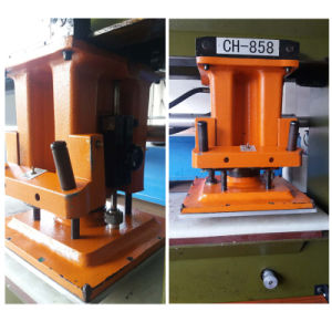 Used Chinese Travelling Head Clicking Leather Rubber Cutting Machine (CH858) pictures & photos