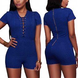 Fashion Women Sexy Slim Collect Waist Conjoined Shorts Bandage Jumpsuit Pants pictures & photos