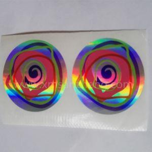 Custom Shiny Rain Resistant Self Adhesive Fashionable Iridescent Hologram Stickers pictures & photos