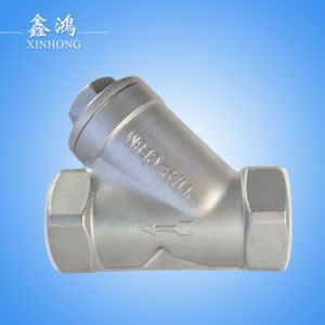 "304 Stainless Steel Thread Y-Type Strainer Dn80 3"" pictures & photos"
