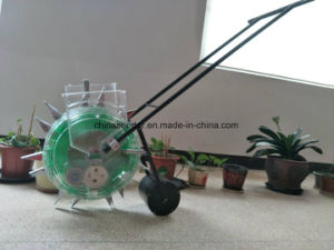 2 in 1 Double Barrel Fertilizer and Planting Machine for Corn Hand Push Planter pictures & photos
