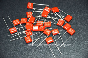 104j 640V Dipped Cl21 Mef Metallized Polyyester Film Capacitor pictures & photos