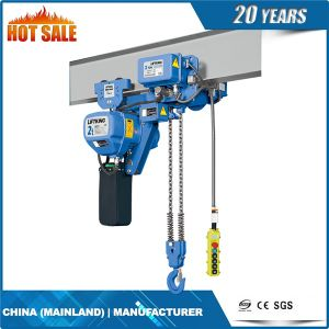3t Double Chain Fall Electric Chain Hoist with Hook Suspension pictures & photos