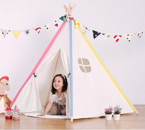 Camping Children Cotton Indian Kids Wood Frame Baby Teepee pictures & photos