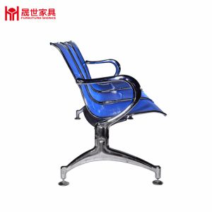 More Seat Metal Frame Mesh Waiting Banch Chair with Back. blue Color for Hospital Reception pictures & photos
