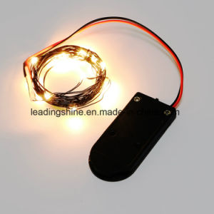 Black Cr2032 Battery Pack Dimmable Starry String Lights Black Wire Warm White pictures & photos