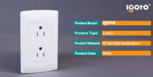 Igoto American Standard Wall Socket 6 Pins Triplex Receptacle Wall Socket pictures & photos