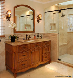 Classical Americal Solid Wood Best Vanity with Simple Design pictures & photos