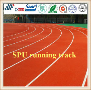 Red Blue Color Running Track 13mm Synthetic Rubber Running Track pictures & photos