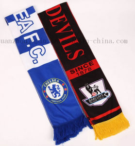OEM Football Team Logo Fans Scarf for Football Match pictures & photos