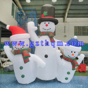Funny Inflatable Snowman for Advertising/Christmas Decoration Snowman pictures & photos
