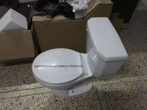 9001 Economic Sanitary Ware, Small Toilet, Cheap Round Siphonic Two Piece Toilet pictures & photos