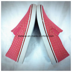 Woman Fabric Shoes with PVC Outsole pictures & photos