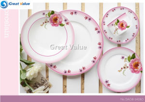 Cheap Bulk Crockery 20PCS Dinnerware Set with English Rose Decal pictures & photos