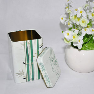 2016 Hot Sale Custom Rectangular Shape Tea Tin Box