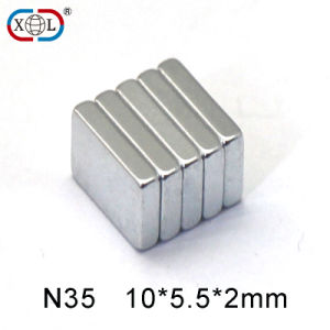 N52 2.5inch Large Strong Rectangle Neodymium Magnet for Motor pictures & photos