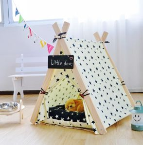Pet Bed Tents Warm Cat House Mat Pet Dog Tent Teepee pictures & photos