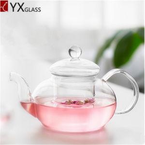 Glass Teapot Heat Resistant High Borosilicate Glass Infuser Filter Handblown 1000ml pictures & photos