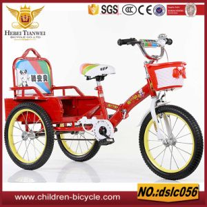 Blue Red with Colorful Rim Air Tire 2 Seats Baby Tricycle pictures & photos