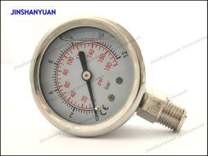 Og-004 Bottom Type of Liquid Filled Pressure Gauge pictures & photos