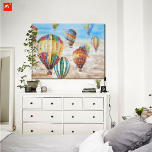 Handmade Wall Decor Hot Air Balloon Canvas Oil Painting pictures & photos