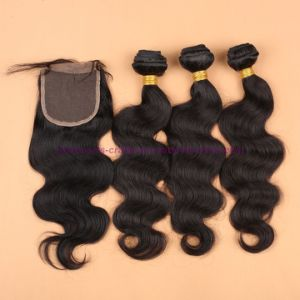 8A Grade Virgin Unprocessed Hair Mongolian Body Wave Bundles with Lace Closure Human Virgin Hair