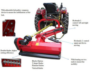 Farm Tractor Pto 3 Point Hydraulic Verge Flail Mower pictures & photos