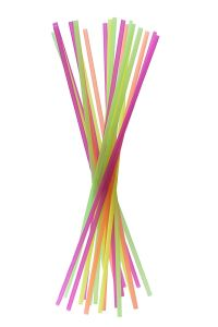 8*400mm Disposable Extra Long Novelty Straws in Assorted Colors pictures & photos