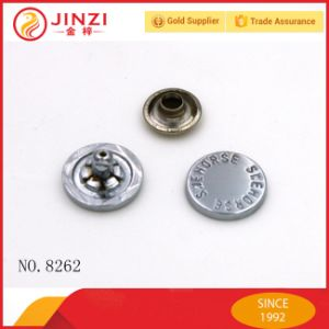 High End Metal Button with Engraving Name pictures & photos