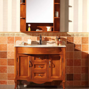 Rustic Bathroom Cabinet Bathroom Vanityt Wood Sanitary Ware (GSP14-004) pictures & photos