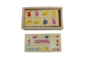 Hot Christmas Gift 28PCS Wooden Domino Toys for Kids and Children pictures & photos