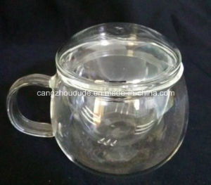 Unique Double Wall Glass Tea Cup with Carton Packaging Box pictures & photos
