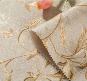 Jcc Seamless Wallpaper Fabric Embossing No-Glue Bamboo Charcoal Fiber Hotel Villa Living pictures & photos