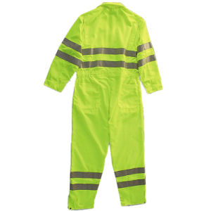 Yellow Color Flame-Resistant Coveralls with Reflective Tape pictures & photos