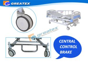 4 Crank Manual Beds with Stainless Steel Central Braker (GT-BM1104) pictures & photos