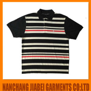 Men′s Yarn Dyed Polo Shirt Spandex with Logo Embroidery