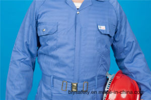 65% Polyester 35%Cotton Long Sleeve Safety High Quolity Cheap Workwear Coverall (BLY1028) pictures & photos