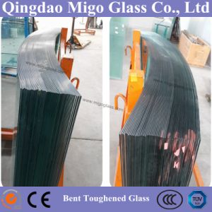 12mm Custom Tempered Bent Glass for Curved Staircase Railing pictures & photos