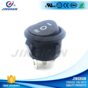 Kcd1-201A/2pin/3pin Black Round Rocker Switch, on-on/on-off-on/on-off pictures & photos