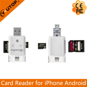 Microsd+SD Card Reader for OTG Lightning iPhone iPad iPod Android (YT-R003) pictures & photos