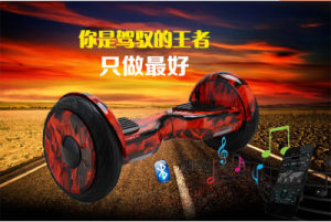 UL2272 10 Inch Flammate 2 Wheel Rubbe Tire Self Balancing Electric Scooter with Bluetooth, LED and Samsung Battery From ODM / OEM Smartmey Manufacturer pictures & photos