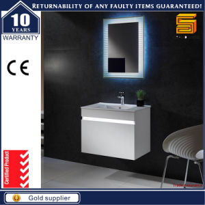 White Painted Wall Mounted Bathroom Vanity with Mirror Cabinet pictures & photos