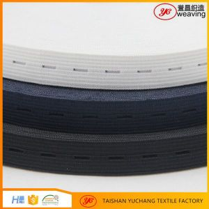 Direct Manufacture Knitted Elastic Band with Button Hole pictures & photos