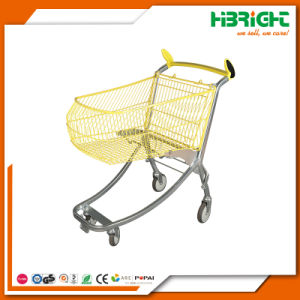 Plastic Sprayed Metal Supermarket Hand Cart Shopping Trolleys pictures & photos