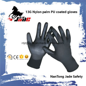 13G Black PU Coated Work Glove pictures & photos