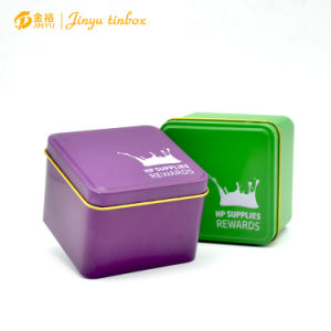Cheap Custom Printed Square Metal Gift Tea Tin Box pictures & photos