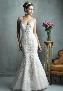 Affordable Elegant Lace Mermaid Trumpet Bridal Wedding Dress (Dream-100024) pictures & photos